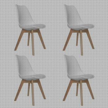 Todo sobre sillas pack de 4 sillas tower wood blanca
